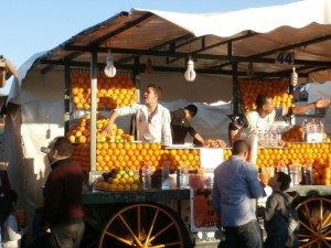 Vendeur orange Marrakec