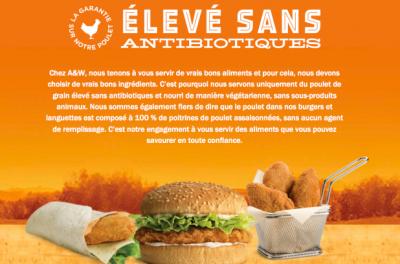 Publicité pour de la viande sans antibiotiques