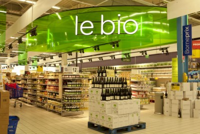 Rayon bio supermarché B